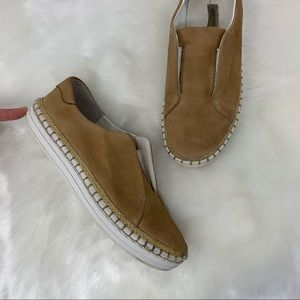 SAKS FIFTH AVENUE leather sneakers no laces